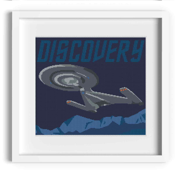 Star Trek Discovery Cross Stitch Pattern
