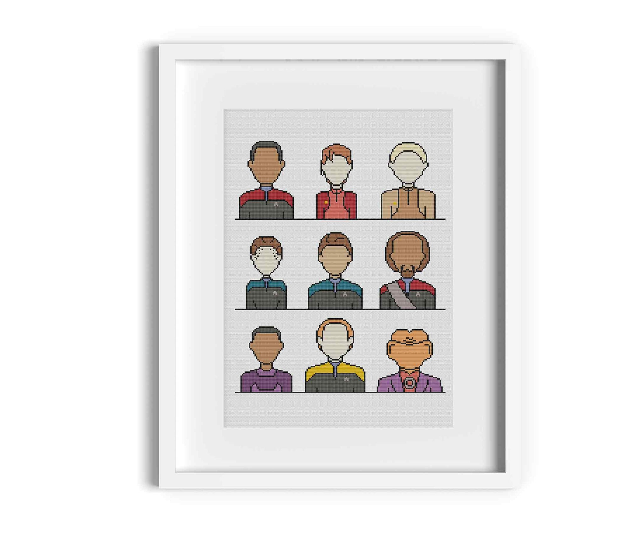 Star Trek DS9 Crew Cross Stitch Pattern