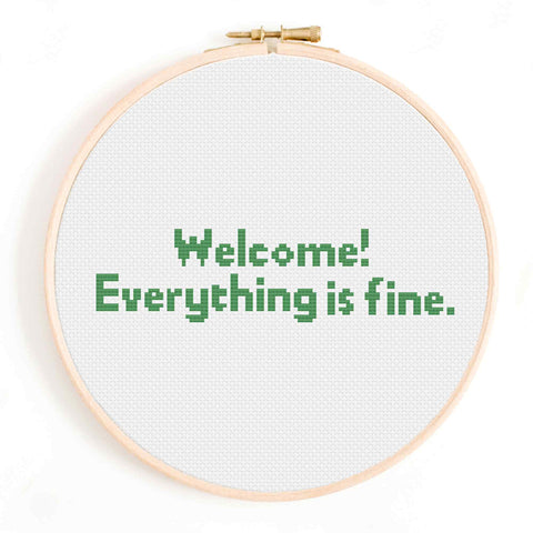 'Everything is Fine' The Good Place Cross Stitch Pattern