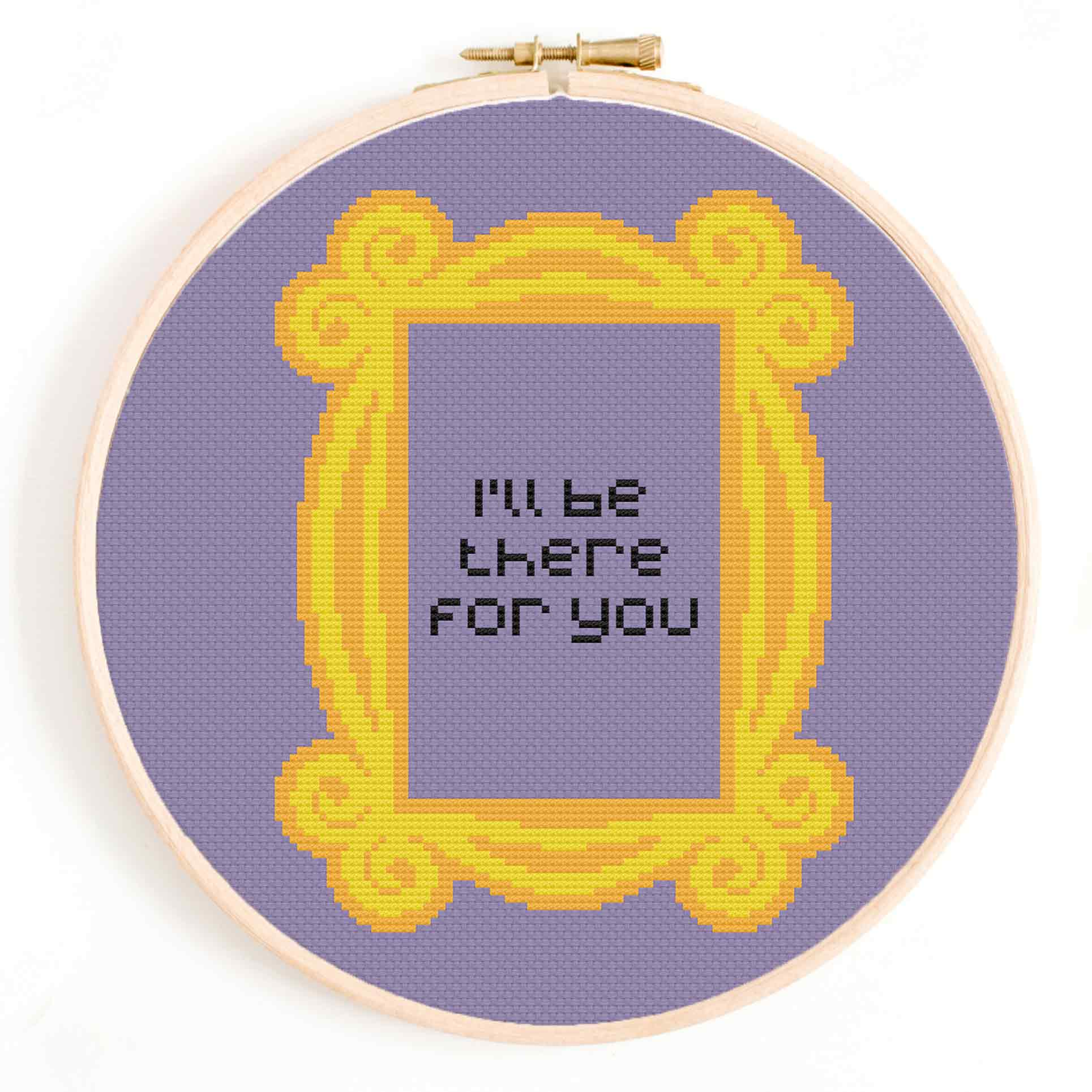 'I'll Be There for You' Friends Cross Stitch Pattern
