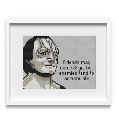 Elim Garak Star Trek Cross Stitch Pattern