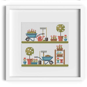 Gardening Cross Stitch Sampler