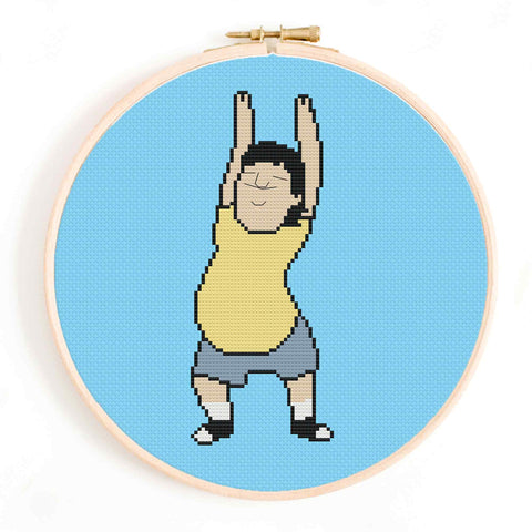 'Gene Dancing' Bob's Burgers Cross Stitch Pattern