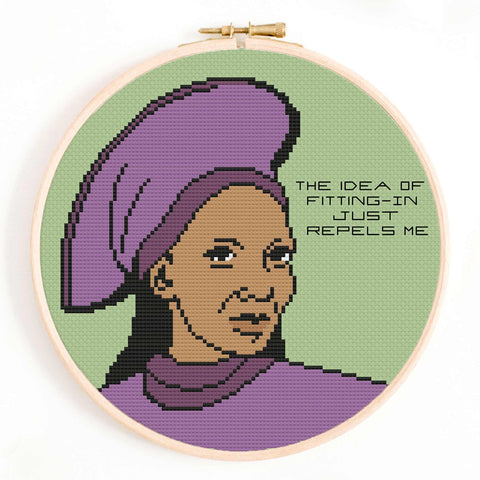 Guinan Star Trek Cross Stitch Pattern