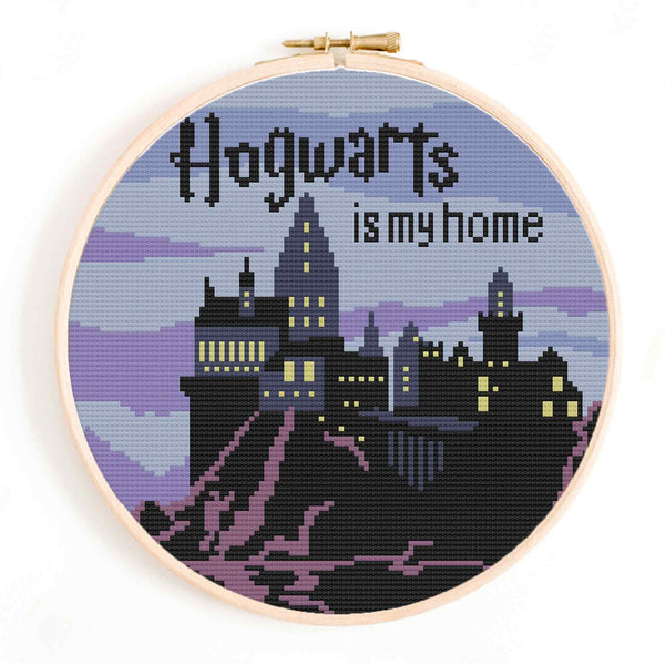 'Hogwarts is my Home' Cross Stitch Pattern