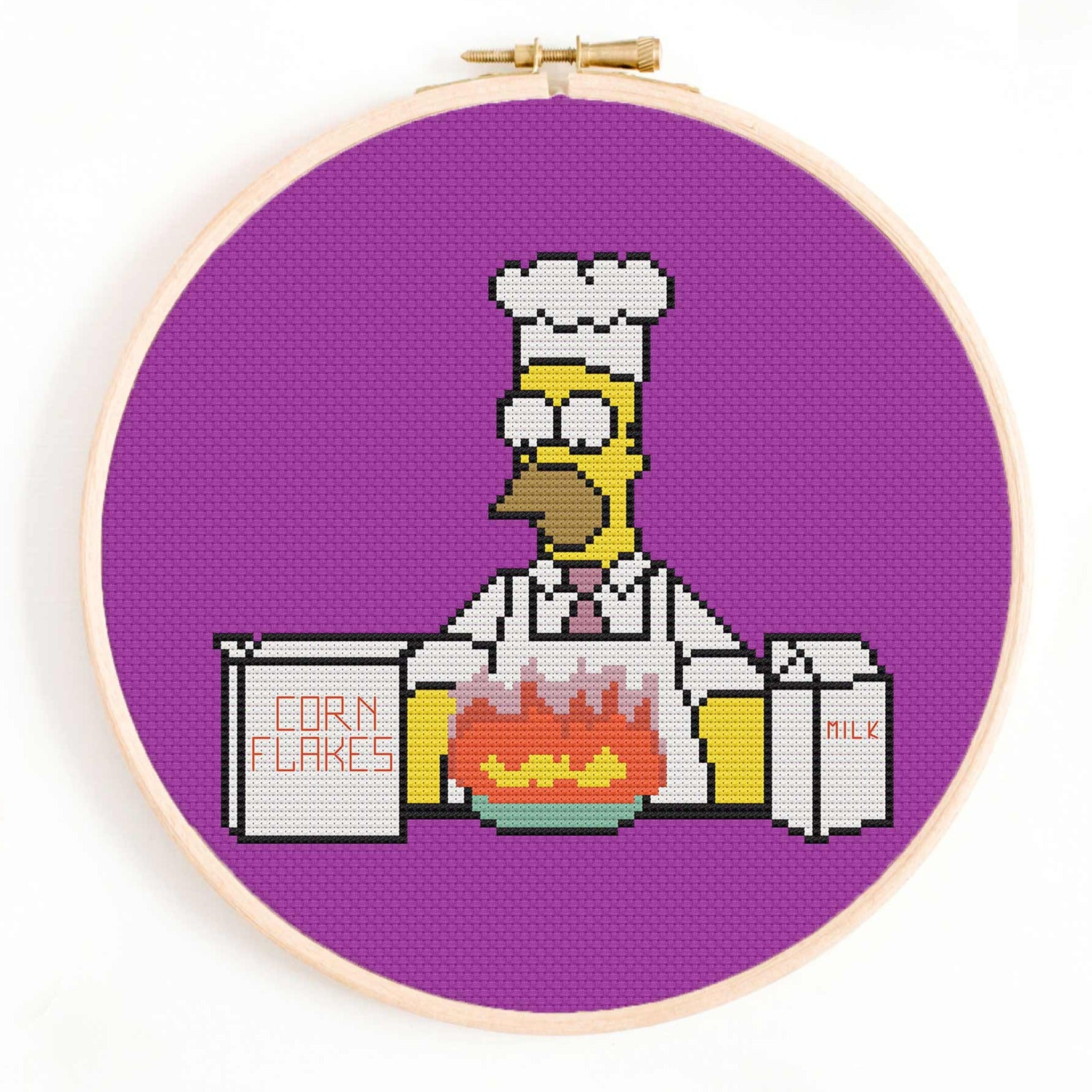 Homer Making Breakfast - The Simpsons Cross Stitch Pattern