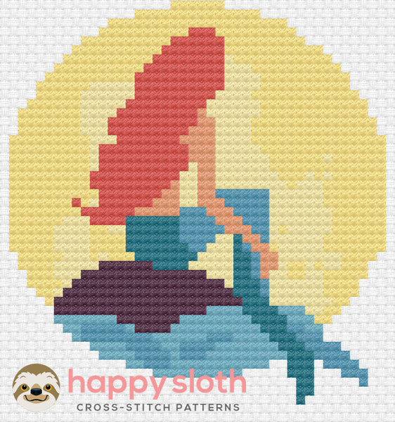 The Little Mermaid Cross Stitch Pattern