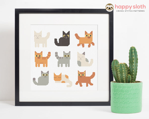 Cats Cross Stitch Pattern