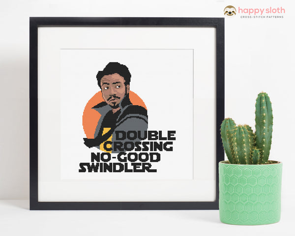 'Lando Calrissian' Star Wars Cross Stitch Pattern