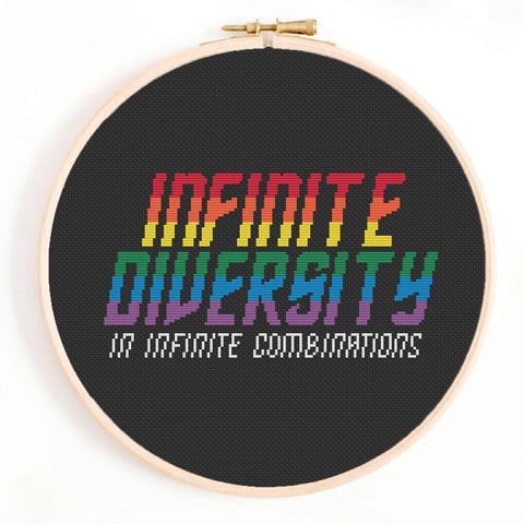 'Infinite Diversity' Star Trek Queer Cross-Stitch Pattern