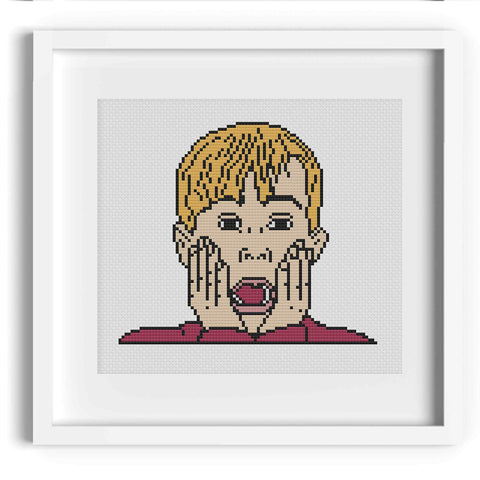 'Kevin!' Home Alone Cross Stitch Pattern