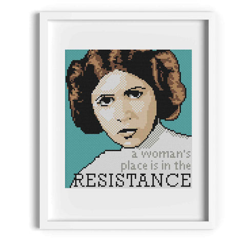 'Princess Leia' Star Wars Cross Stitch Pattern