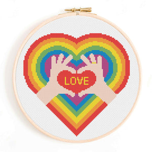 LGBT Love Cross Stitch Pattern