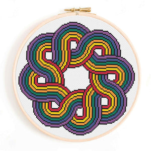 LGBT Pride Mandala Cross Stitch Pattern