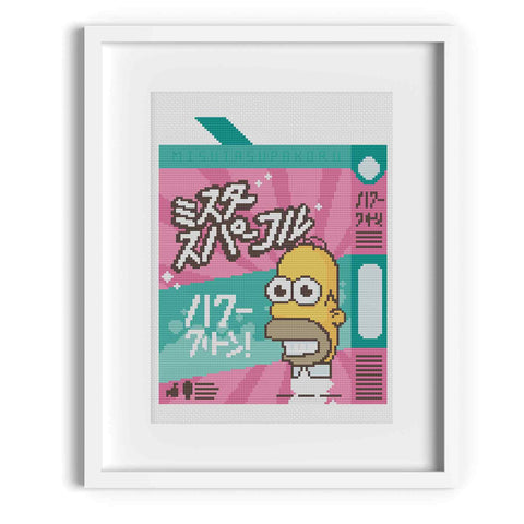 'Mr Sparkle' The Simpsons Cross Stitch Pattern
