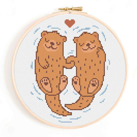Significant Otters Cross Stitch Pattern