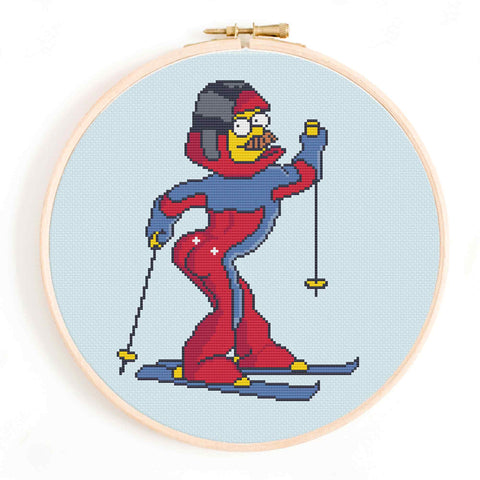 'Stupid Sexy Flanders' The Simpsons Cross Stitch Pattern