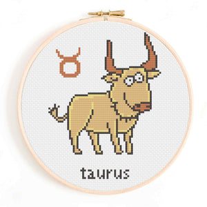 Little Taurus Cross Stitch