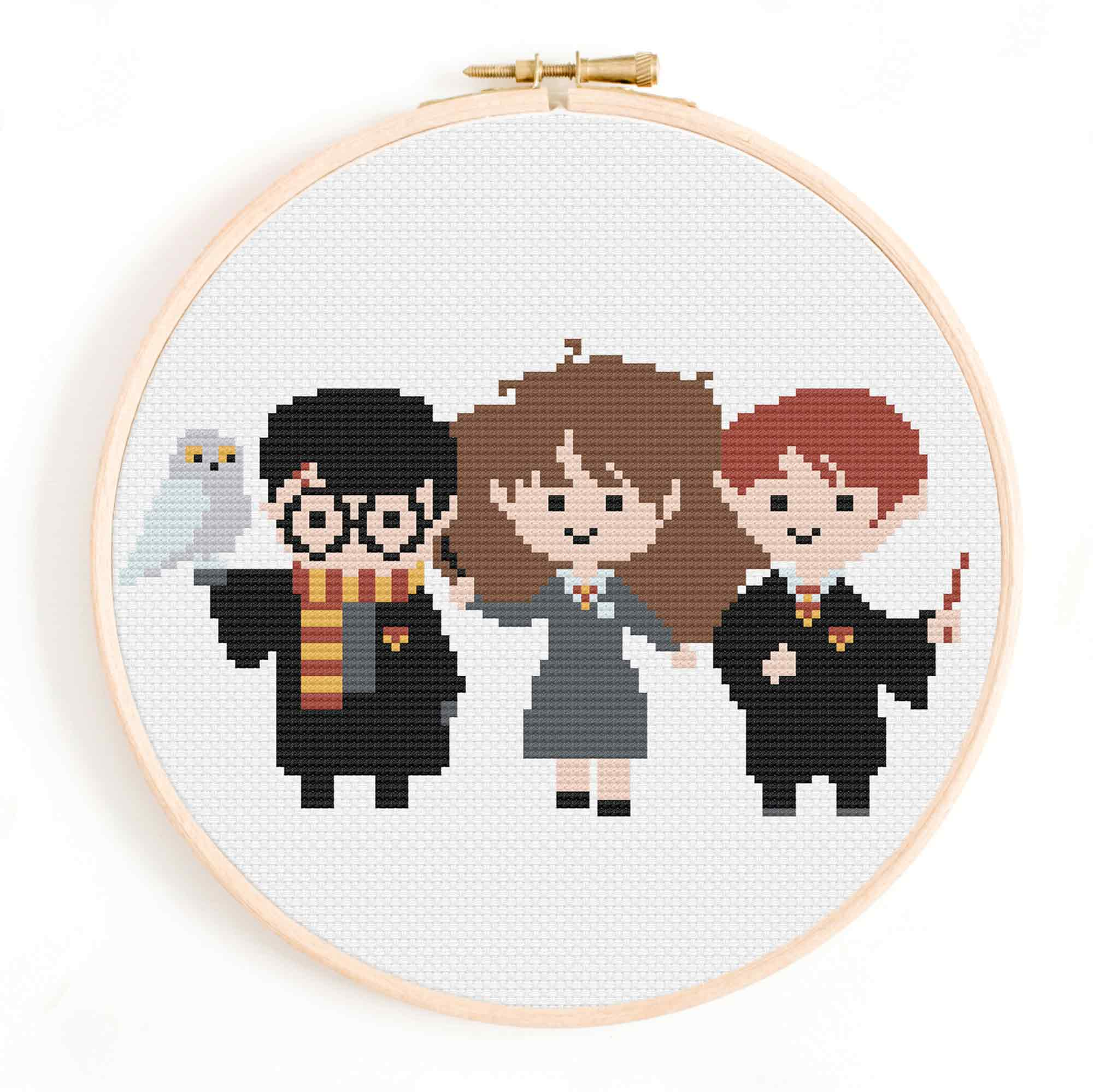 Ron, Harry and Hermione Cross Stitch Pattern