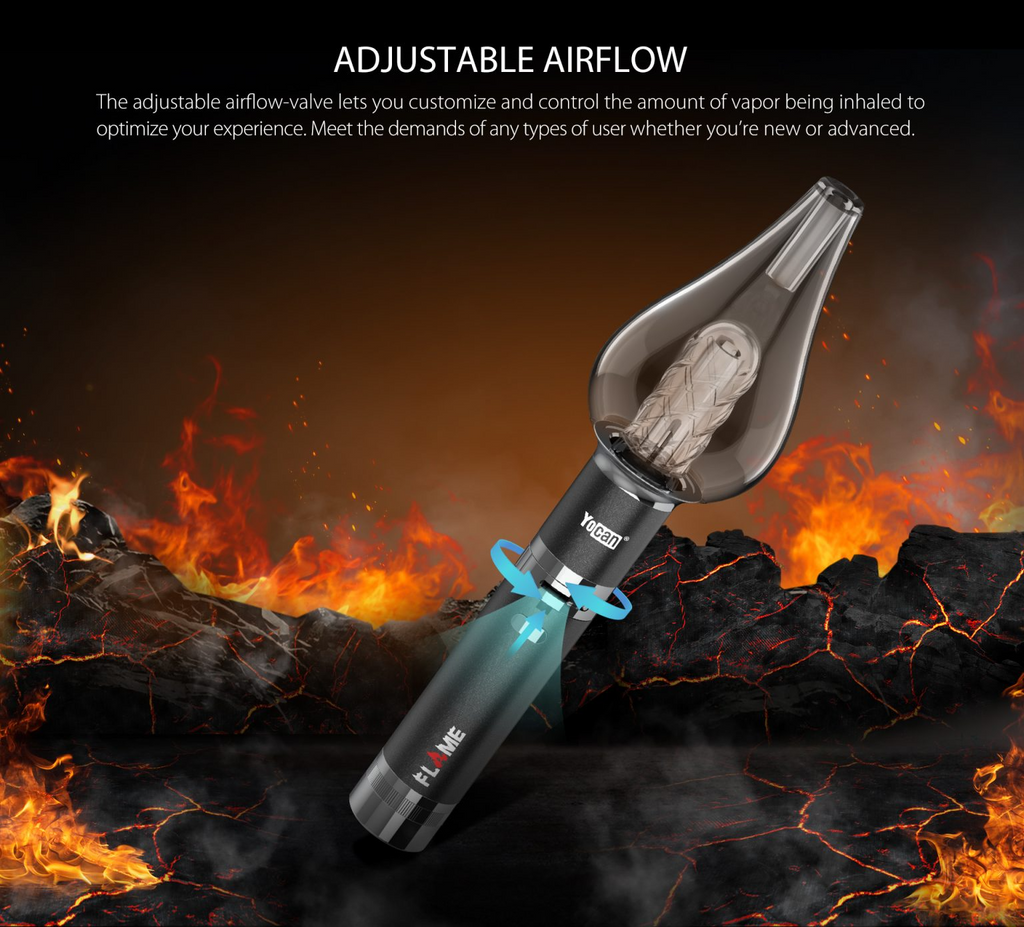 Yocan Flame Vaporizer Adjustable Airflow