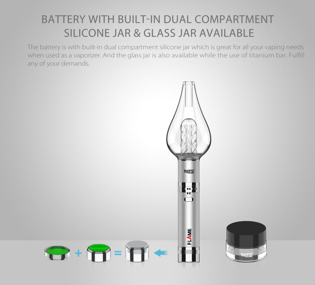 Yocan Flame Vaporizer Built-in Compartment