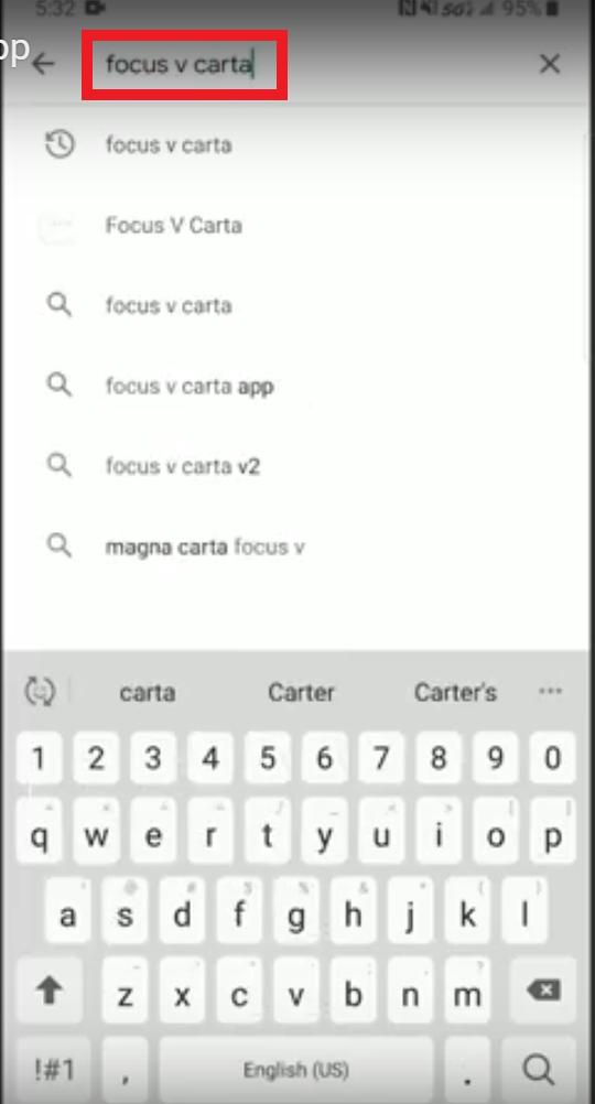 Focus V Carta Android App Guide