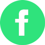 green and white Facebook icon
