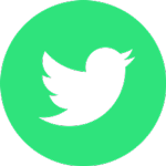 green and white Twitter icon