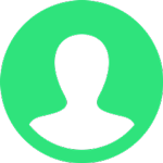 green and white user icon
