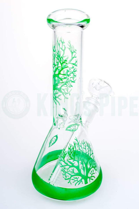 10 inch Beaker Bong with Tree Graphics