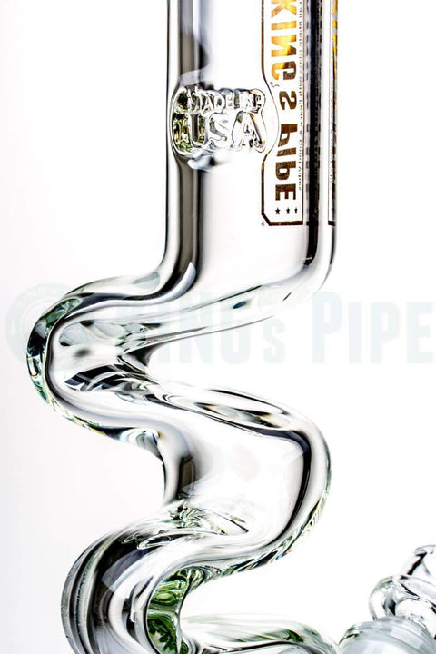 KING's Pipe Glass - 12 inch 9mm Thick Zong Bong