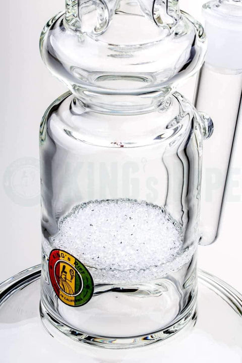 KING's Pipe Glass - Single Fritted Disc FAT CAN Bong