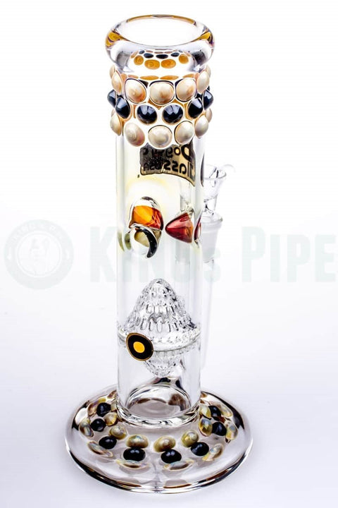 Bogart Glass - Honeyglobe Perc Straight Water Pipe w/ Marbles