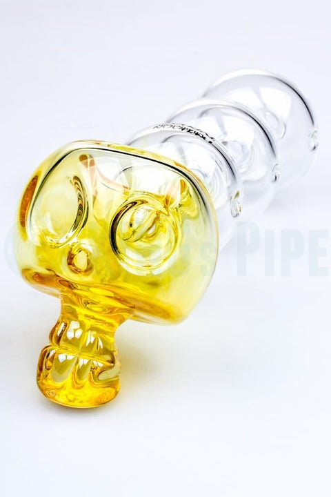 Chameleon Glass - 7 Inch Bonehead Typhoon Glass Pipe