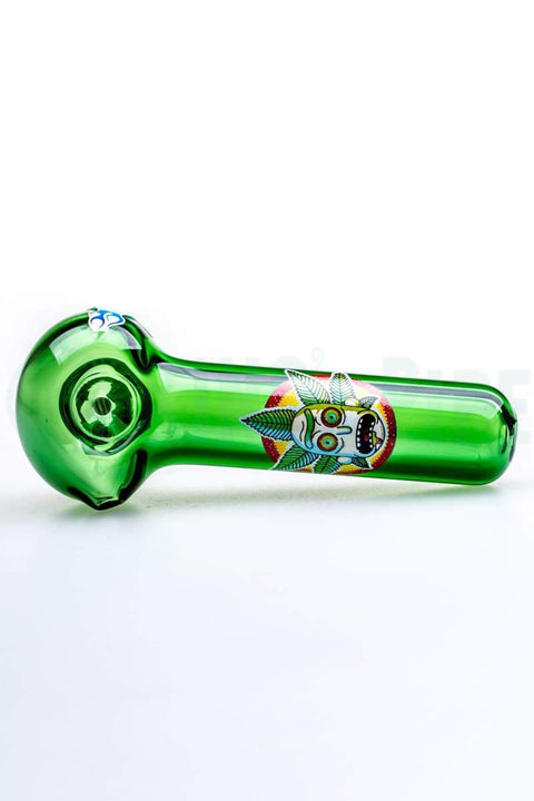 Chameleon Glass - Canna Crown Rick Glass Pipe