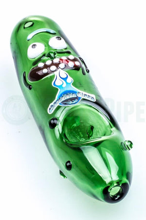 Chameleon Glass - Pickle Rick Pipe