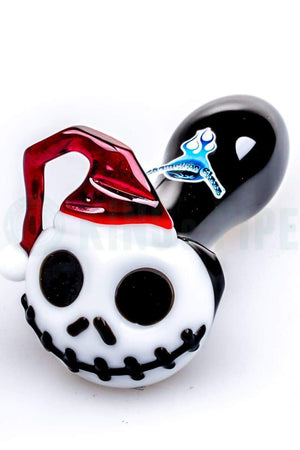 Chameleon Glass - Skellington Santa Glass Pipe