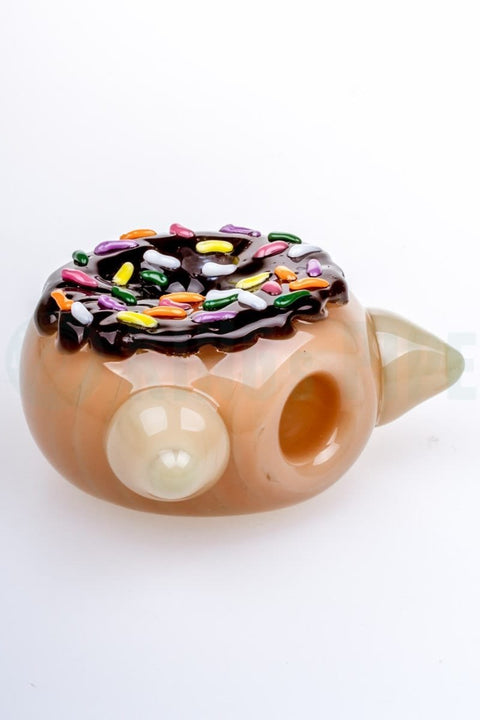 Empire Glassworks - Glazed Kitty Donut Glass Pipe