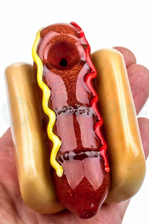 Empire Glassworks - Hot Dog Glass Pipe