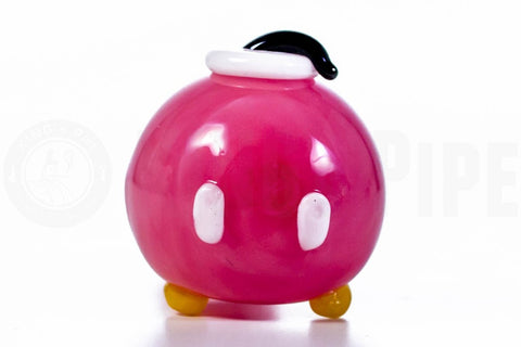 Empire Glassworks - Pink Bob-omb Glass Spoon Pipe