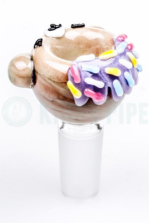 Empire Glassworks - Teddy Bear Donut Glass Bowl
