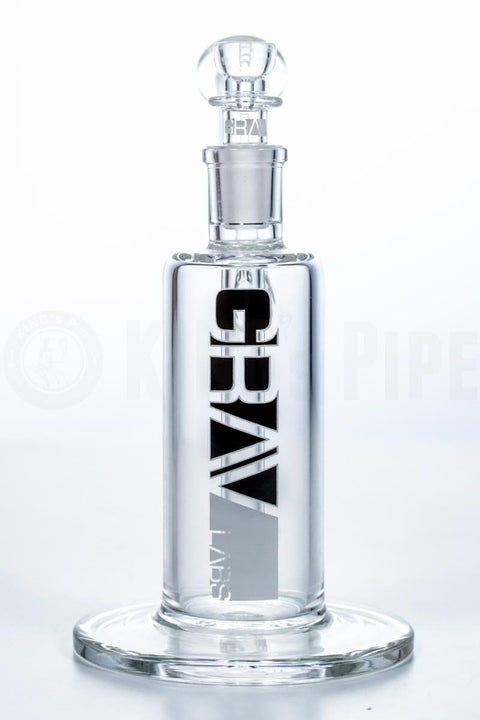 Grav Labs - 7 inch Upright Clear Bubbler