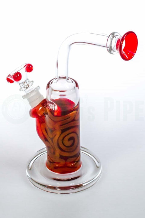 HVY Glass - Coiled Color Bent Neck Bubbler