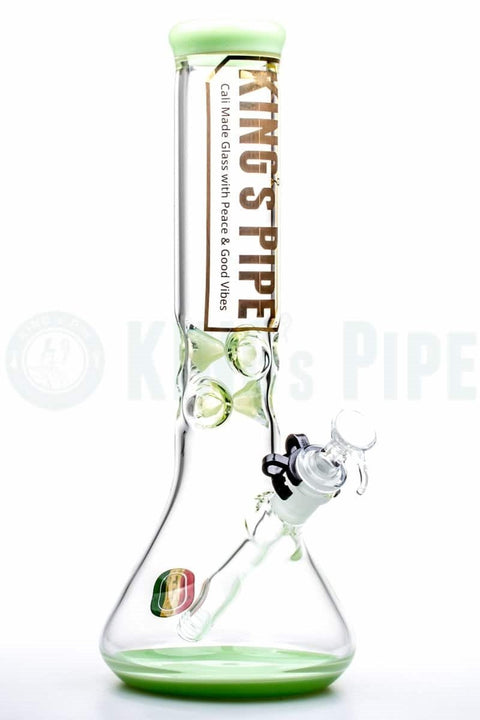 KING's Pipe Glass - 12'' Beaker Bong with Lime