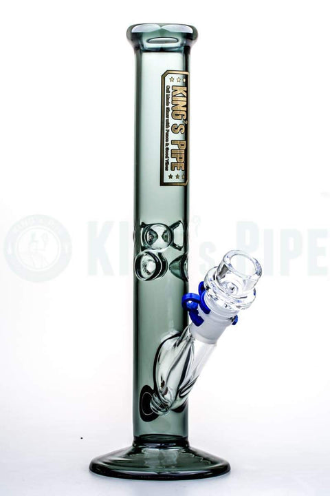KING's Pipe Glass - 12'' Charcoal Straight Bong