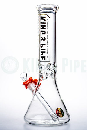 KING's Pipe Glass - 12 inch Glass Beaker Bong