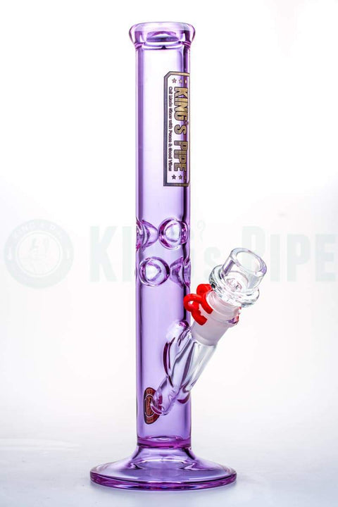 KING's Pipe Glass - 12'' Purple Straight Bong