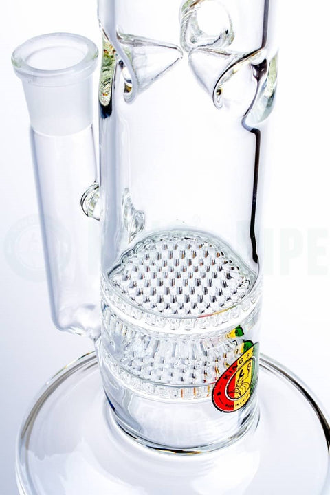 KING's Pipe - 16'' Double Honeycomb Straight Water Pipe