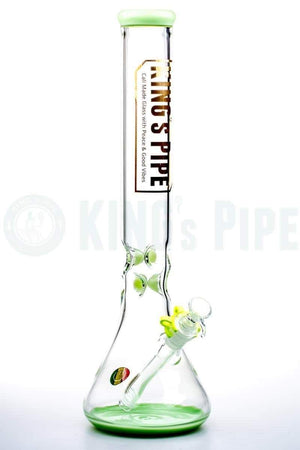 KING's Pipe Glass - 16 Inch Beaker Bong with Lime