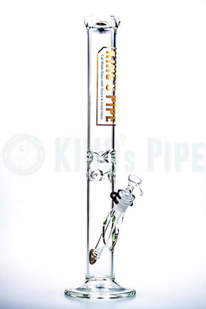 KING's Pipe Glass - 18 Inch Straight Tube Water Bong